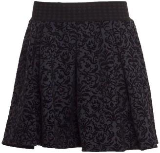 Vero Moda Women's Cary Skater Skirt with Velvet Brocade