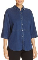 Eileen Fisher Denim Button-Down Shirt