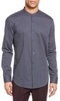 Vince Men's Trim Fit Band Collar Sport Shirt