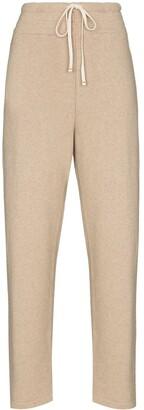 LES TIEN Wide-Leg Cashmere Track Pants