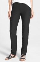 Eileen Fisher Women's Straight Yoke Slim Crepe Knit Pants