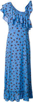 Ganni floral print ruffled maxi dress