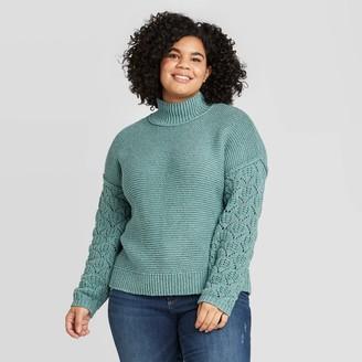 Universal Thread Women' Plu ize Mock Turtleneck Pullover weater - Univeral ThreadTM