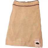 Tory Burch Beige Linen Skirt