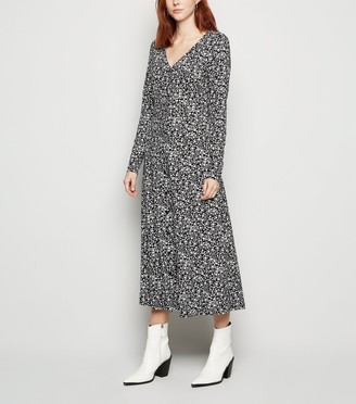 New Look Tall Floral Soft Touch Midi Dress