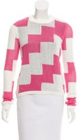 Carven Open Knit Crew Neck Sweater w/ Tags