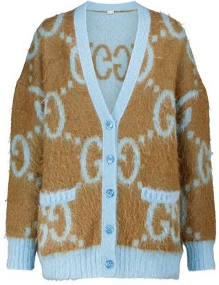 Gucci GG reversible mohair-blend cardigan