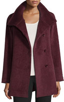 Cinzia Rocca Hidden-Button Short Coat, Berry