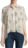 Bishop + Young Floral Half-Sleeve Boxy Blouse, Multi