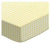 Stokke SheetWorld Fitted Oval Mini) - Yellow Gingham Jersey - Made In USA - 58.4 cm x 73.7 cm ( 23 inches x 29 inches)