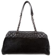 Chanel Ponyhair Quilted Bowler
