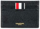Thom Browne Double Sided Card Holder In Pebble Lucido Leather