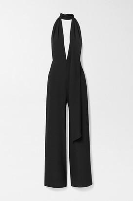 Marika Vera Elsa Crepe Halterneck Jumpsuit - Black