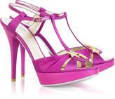 Roberto Cavalli Satin platform sandals