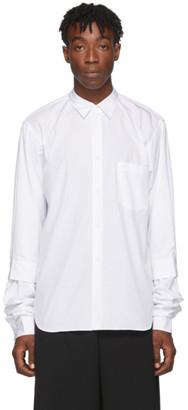 Comme des Garçons Homme Plus White Double Sleeve Shirt