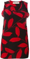 Marni leaf print top - women - Silk - 40