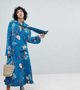 Reclaimed Vintage Inspired Midiaxi Dress With Flare Sleeve
