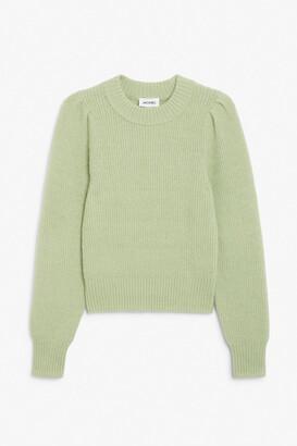 Monki Puffed sleeve knit sweater