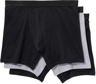 Joe Fresh Mens 3 Pack Jersey Boxer Briefs, Black (Size M)
