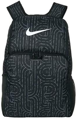 Nike Brasilia XL Backpack - 9.0 All Over Print (Black/Black/White) Backpack Bags
