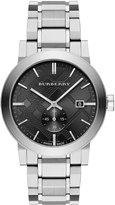 Burberry 42mm Stainless Steel City Bracelet Watch, Silver