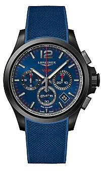 Longines Men's Conquest V.H.P. PVD & Rubber Strap Chronograph Watch