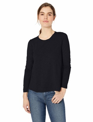 Daily Ritual Lightweight Lived-in Cotton Long-sleeve Swing T-shirt Navy US S (EU S - M)