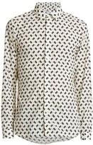 Kenzo Ikat Long-Sleeve Slim Dress Shirt
