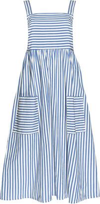 People Tree Luella Stripe Dress - organic cotton | UK10 | Stripes Blue