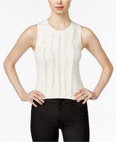 Armani Exchange Sleeveless Fringe Sweater