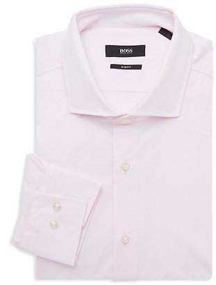 HUGO BOSS Slim-Fit Pinstriped Dress Shirt