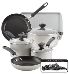 Farberware Cookstart Aluminum DiamondMax Nonstick 15-Pc. Cookware Set