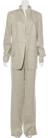 Akris Linen Long Sleeve Pantsuit