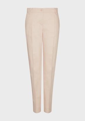Emporio Armani Gabardine Cigarette Trousers