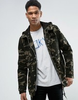 Esprit Zip Through Shower Proof Jacket In Camo