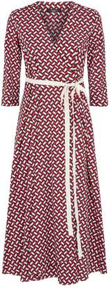 Max Mara Geometric Print Wrap Dress