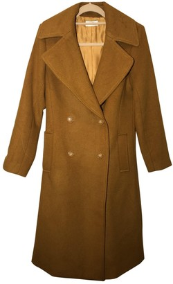 Reiko Orange Wool Coats