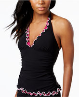 Profile by Gottex Ruffled Halter Tankini Top