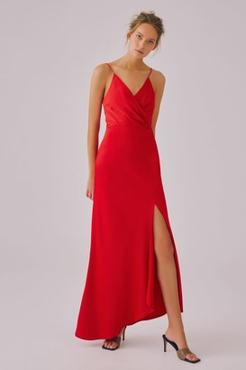 C/Meo JUST ASKING GOWN red