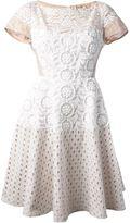 No.21 lace and macrame dress