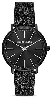 Michael Kors Pyper Leather Strap Watch, 38mm