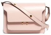 Marni Trunk Medium Leather Shoulder Bag - Womens - Light Pink