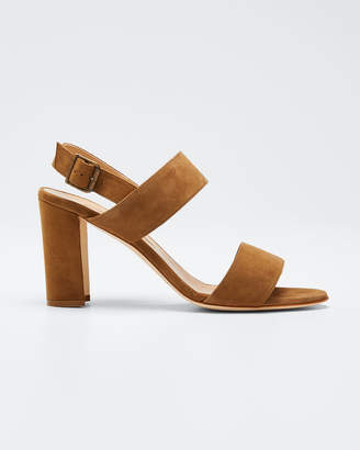 Manolo Blahnik Khan Suede 90mm Sandals