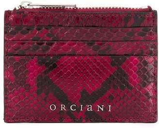 Orciani logo snakeskin-effect wallet