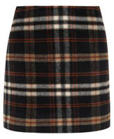 George Brushed Check Print A-Line Skirt