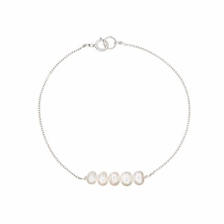 Lily & Roo Sterling Silver Cluster Pearl Bracelet