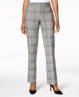 Charter Club Plaid Tummy-Control Trousers, Created for Macy's