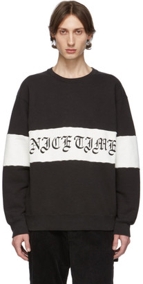 Wacko Maria Black and White Nice Time Sweatshirt