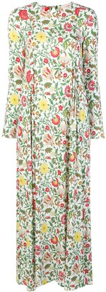 La DoubleJ Dragon Flower print maxi dress