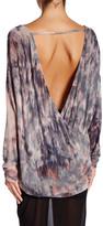 Young Fabulous & Broke Surplice V-Neck Long Sleeve Print Shirt